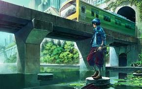 fishing, anime boys