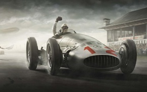 Mercedes, Benz, Silver Arrows, Formula 1, car