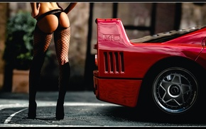 ass, car, Ferrari F40