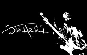 Jimi Hendrix, blues rock, signatures, guitar, musicians, minimalism