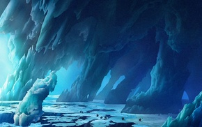 animated movies, How to Train Your Dragon 2, landscape, concept art