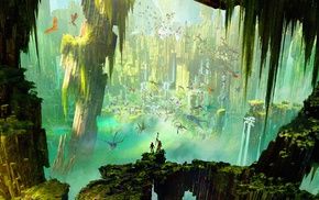 concept art, How to Train Your Dragon 2, animated movies, dragon, landscape