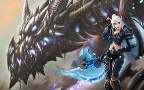 dragon, Blood Elf, Sindragosa, World of Warcraft, death knights