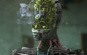 digital art, robot, artwork