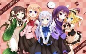 Tedeza Rize, anime, Kafuu Chino, Kirima Sharo, Ujimatsu Chiya, Hoto Kokoa