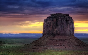 Monument Valley, USA, rock formation, landscape, mountain, nature