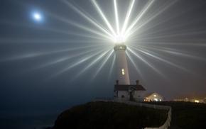 lighthouse, landscape