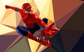 Spider, Man, low poly