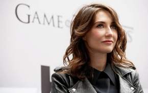 Game of Thrones, girl, auburn hair, Carice van Houten, blue eyes
