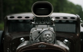 Chevrolet, wheels, depth of field, vehicle, Hot Rod, old car