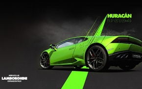 Lamborghini Huracan LP 610, 4, green cars, Lamborghini, video games, Driveclub