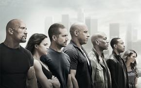 movies, Dwayne Johnson, Fast and Furious, Furious 7, Paul Walker, Ludacris
