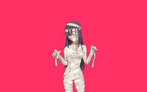Hanako Ikezawa, Katawa Shoujo, simple background, visual novel, anime girls