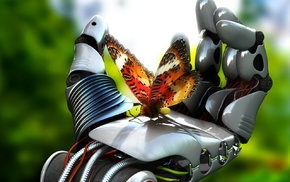 butterfly, robot