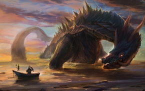 Monster Hunter, Lagiacrus, sea monsters, digital art