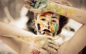 body paint, face, girl