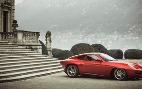 car, Alfa Romeo, red cars, Disco Volante