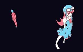 anime girls, Araragi Koyomi, anime, simple background, Oshino Shinobu