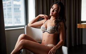 girl, brunette, lingerie, model, Melanie Iglesias