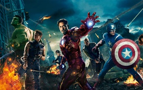 Scarlett Johansson, Captain America, Hulk, Robert Downey Jr., Samuel L. Jackson, Iron Man