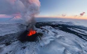 lava, volcano, landscape