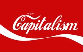 red, capitalism, primary colors, white, Coca, Cola