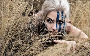 purple eyes, cosplay, blonde, Daenerys Targaryen, Game of Thrones, girl