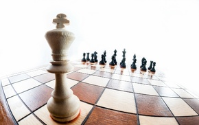 fisheye lens, king, checkered, board games, wooden surface, chess