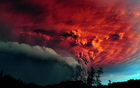 eruptions, nature, Chile, eruption, volcano