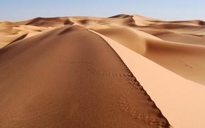 dune, desert, sand, landscape, nature