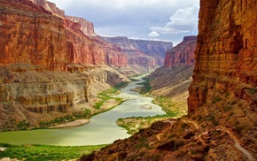 river, nature, Grand Canyon, canyon, Arizona, landscape