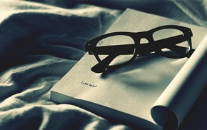 books, glasses