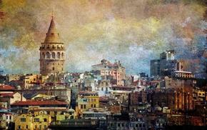 Galata Kulesi, galata, Turkey, Istanbul