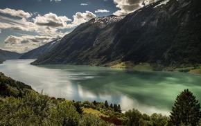 nature, mountain, river