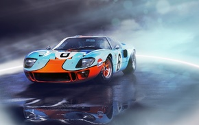 vehicle, Ford GT, car, Ford, Ford GT40