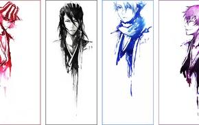 Hitsugaya Toshiro, Mugetsu, Ichimaru Gin, Urahara Kisuke, Kurosaki Ichigo, panels