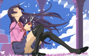 anime girls, Senjougahara Hitagi, Monogatari Series