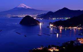 bay, Japan, building, reflection, sea, water