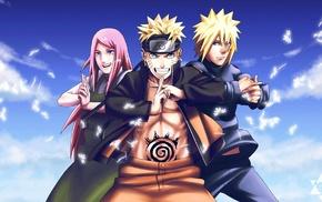 Namikaze Minato, anime, Uzumaki Kushina, Naruto Shippuuden, Uzumaki Naruto