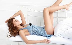 legs, Daniela Freitas, legs up, auburn hair, model, girl