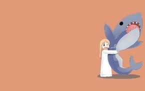 anime girls, Shinonome Hakase, simple background, anime, Nichijou