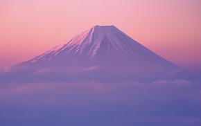 landscape, mountain, Japan, Mount Fuji, clouds