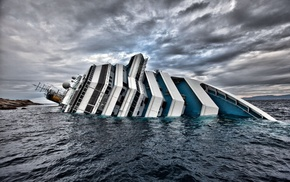 crash, cruise ship, disaster, ship, Costa Concordia, sinking ships