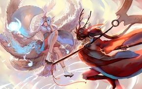 tail, Akali, animal ears, Ahri, League of Legends