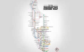 map, typography, subway, simple background, humor