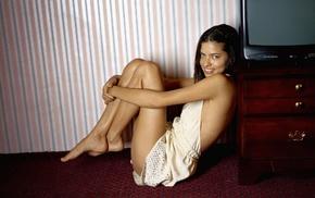 brunette, model, girl, Adriana Lima