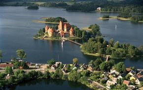 Trakai, Lithuania, lake, castle