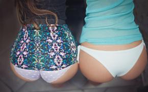 ass, Fedor Shmidt, girl, brunette, white underwear, purple panties
