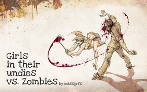 zombies, anime girls