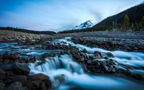 nature, long exposure, rock, landscape, waterfall, stream